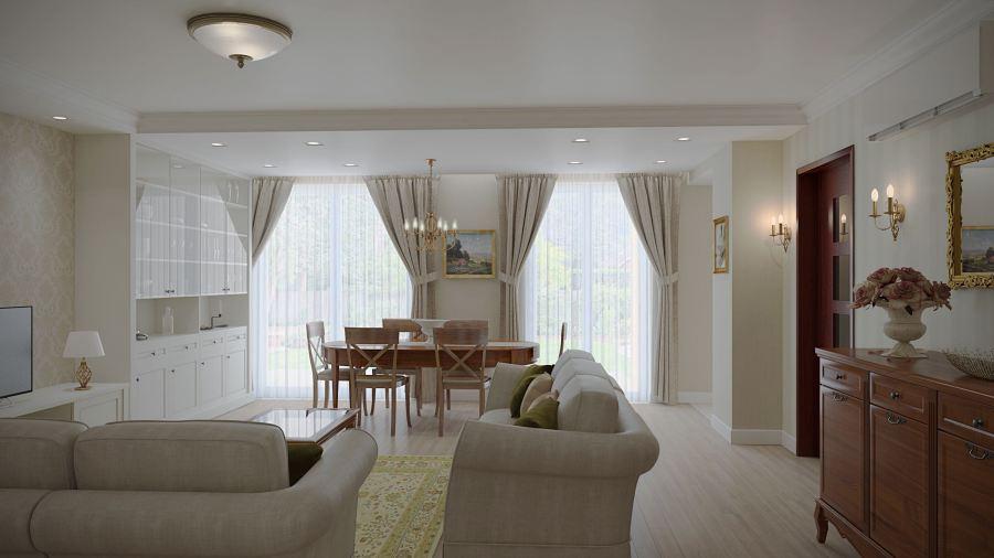 Klasszikus nappali pasztell színvilágban